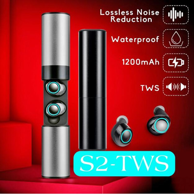 S2 TWS True Wireless Earphone Bluetooth 5 0 Earbuds 3D Stereo Headset With  Mic Charging Box For Sams