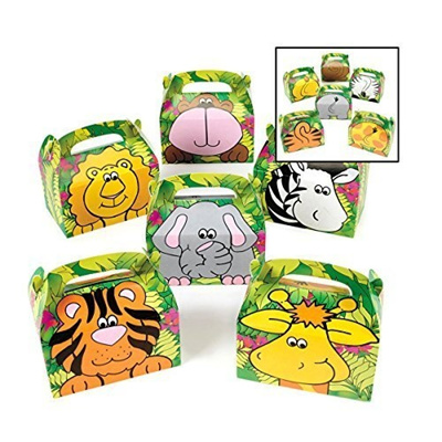Safari Zoo Animals Treat Gift Boxes Birthday Party Favor Jungle Theme 12 Pack By Super Z