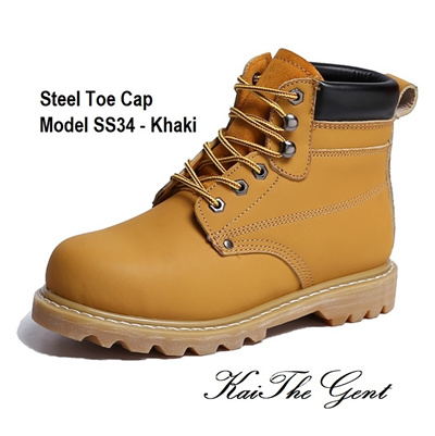 6c4b12c6da6 [Made In China]Safety Shoes Work Boots Steel Toe Steel Cap Protective  UniSex Velcro Zipper