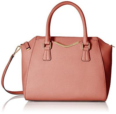 Saffiano Leather Satchel Bag H5gd14je Color Deep Blush