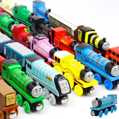 Sale 12pcsset Thomas Train Wooden Toys For Children Thomas And Friends Anime Railway Trains Mini Tr
