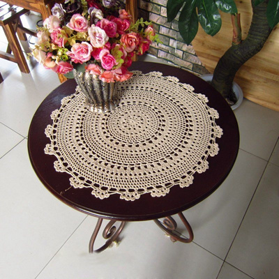 Qoo10 Sale 15 45cm Crochet Lace Table Mat Retro Pastoral Flower