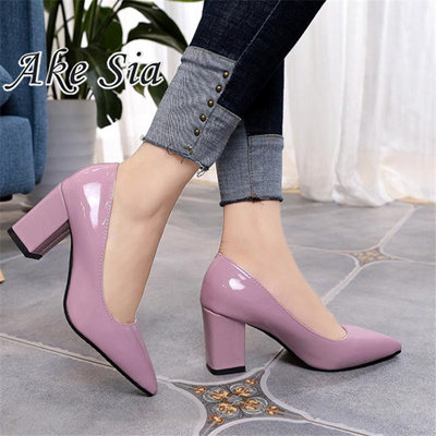 High heels 7.5cm Lady Patent leather