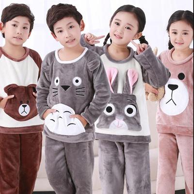 Qoo10 - sale 4-15Y Cartoon Boy s Girls Pajamas Sets Plush Warm Toddler Girl  Sl...   Kids Fashion 8c5404c76