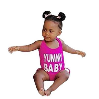 54def1ba3d6 sale Baby Girls Letter One Piece Swimsuit Swimwear Bathing Suit Bikini  Clothes crochet #4-