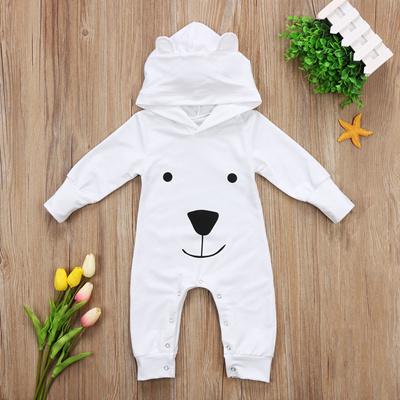 e2822b9c31b sale Cute Newborn Baby Boy Girl Romper Long Sleeve Bunny Ear Cartoon Bear  Hooded Clothes Toddler