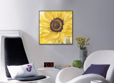 Qoo painting sunflower furniture deco