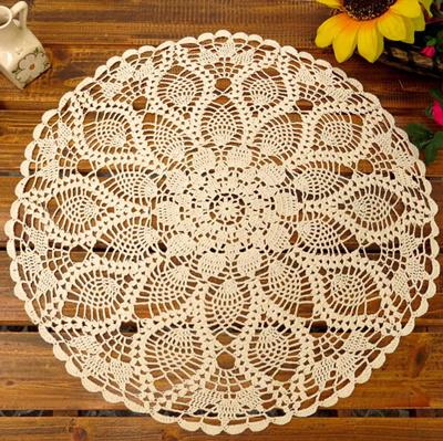 Qoo10 Sale Handmade Vintage Crochet Round Tablecloth Table Cover