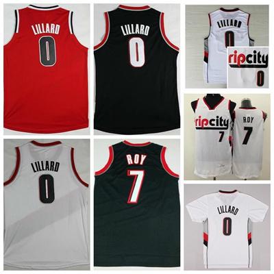 pretty nice d7f4f 160a6 Sale RipCity 0 Damian Lillard Jersey Men 7 Brandon Roy Shirt Rip City  Uniforms Rev 30 New Material T
