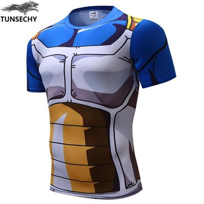aaea63981 sale TUNSECHY Classic Anime Dragon Ball Z Super Saiyan 3D t shirt tees  Cartoon Vegeta t