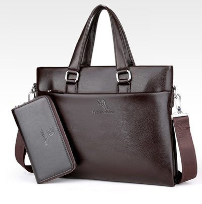 ec2e9bb18b sale YUES KANGAROO Famous Brand Leather Men Bags A4 Document Business  Briefcase 2017 New Handbag Mal