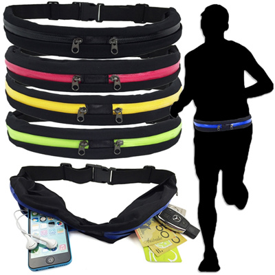 af5f8177ae96 (SALES ) LOCAL SELLER[In Stock]Running- Double Zip Running Waist Belt Water  resistant 6.5 Inch Phone