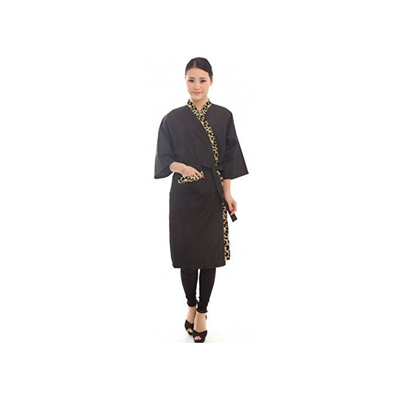 Qoo10 - Salon robes Black Salon Client Gown Hairdressing Gowns ...