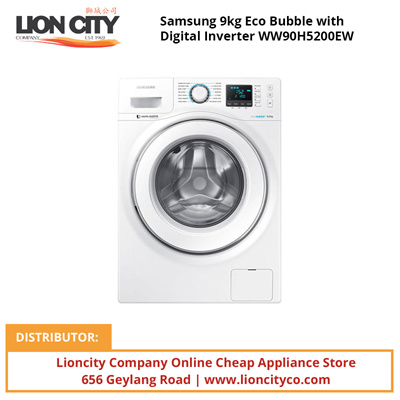 qoo10 samsung 9kg eco bubble with digital inverter. Black Bedroom Furniture Sets. Home Design Ideas