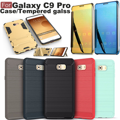 quite nice 0bc34 d06c2 Samsung Galaxy C9 Pro Case Cover Hard Plastic Back Protective Phone Bags  Cases armor TPU tempered glass mirror case wallet case for Samsung C9 Pro  ...