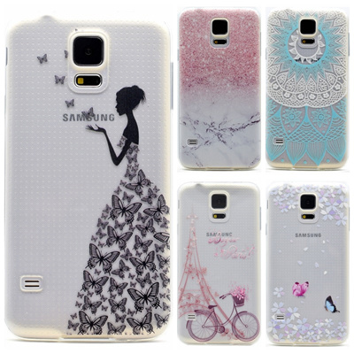 hot sales 1ee59 293a5 Samsung Galaxy S5 Mini G800 Case Silicone Fresh Soft Back Cover Transparent  Phone Cases Samsung