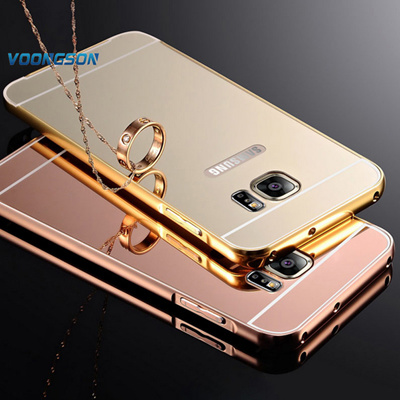 the best attitude c175e 9f51c Samsung Galaxy S6 S5 S7 S7 Edge S6 Edge Mirro PC Back CoverS7 Edge Mirror  Case Metal Aluminum