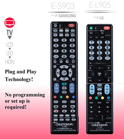 SAMSUNG/LG Universal TV Remote Control  No Setup Required  Suits all  Samsung/LG LED LCD HDTV 3DTV TVs