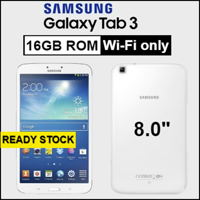 Samsung MobileSamsung Galaxy Tab 3 / 8 0 inch / Wi-Fi only / 1 5GB RAM /  16GB ROM / Android Tablet / Refurbished