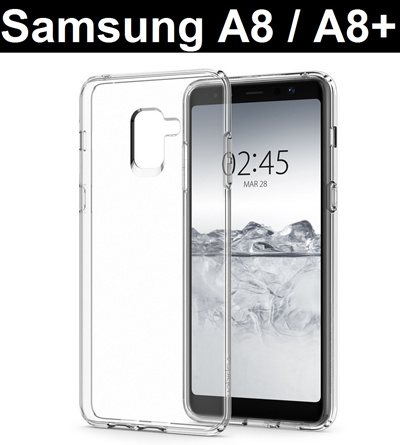big sale ae668 cffdd SAMSUNG★ Samsung Galaxy A8 / A8+ A8 Plus Transparent Crystal Clear Case  Casing Cover Tempered Glass