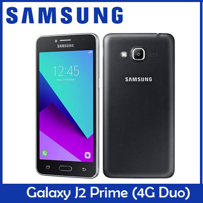SAMSUNGSamsung Galaxy J2 Prime 4G Duos Smartphone / 5 0 inches Screen / 1 5  GB RAM / 8 GB ROM / Dual Sim / 2600 mAh battery / Export Set / One Month