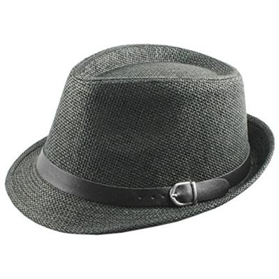 39d979af5f219a Samtree Fedora Hats for Women Men,Vintage Knitted Straw Trilby Hat(Black)