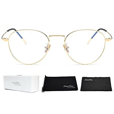 91280a2cafb Qoo10 - SamuRita Ultra Thin Classic Metal Round Oval Glasses Full Rim Clear  Le...   Fashion Accessor.