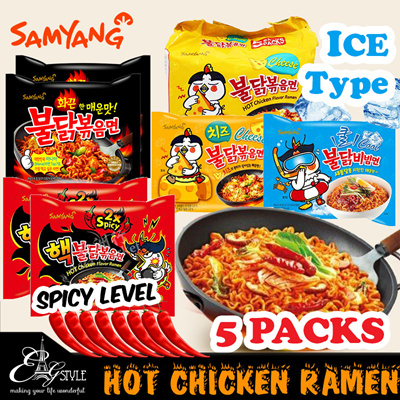 🔥Samyang🔥Hot Chicken Instant Ramen / Cheese / Curry / 2X Spicy / Ice