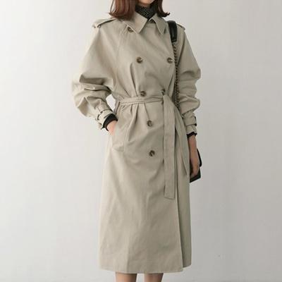 64973d4116 Qoo10 - Sand bby coat (3color) [Long Trench Coat Barbari Court Belt Court  Dail... : Women's Clothing