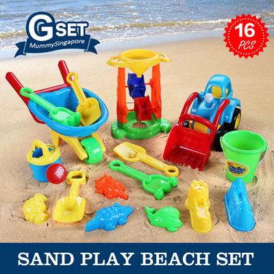 Beach/sand Toys Pools & Water Fun Childrens Beach Toys Convenient Trolley Storage Box 14 Pcs Kids Beach Case Trolley Beach Sand Toys Set Kids Outdoor Toy