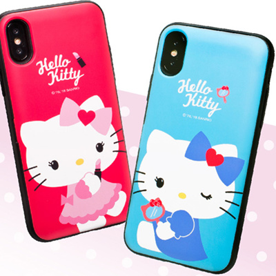 info for 22337 dbb84 SANRIO HELLO KITTYHello Kitty Color Card Case iPhone X/ iPhone 8/ iPhone 8  Plus Case 3 Colors Case made in Korea