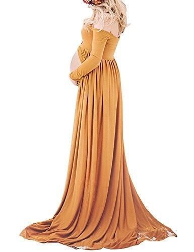 cba05ba2ba83a Qoo10 - Saslax Maternity White Gowns Split Front Photography Dress for  Photo S... : Baby & Maternity