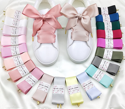 00ef41c1a3ee4 Satin [3.2cm] - Organza Ribbon Shoelaces Flat Silk Shoes Lace Velvet Puma  Heart Suede Butterfly