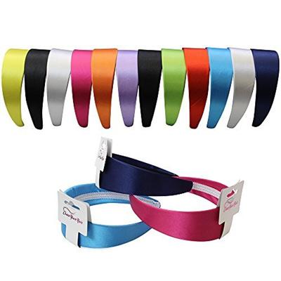 Qoo10 - Satin Headband - 12 Hard Headbands - Ribbon Hairband for Women by  Cove...   Hair Care 86ade88d296