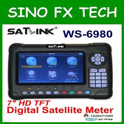 Satlink latest WS6980 Dvb-s2t2*c2 combo satellite finder for tv signal