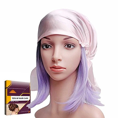 Savena 100 Mulberry Silk Night Sleeping Cap For Long Hair Bonnet Hat Warm Soft Many