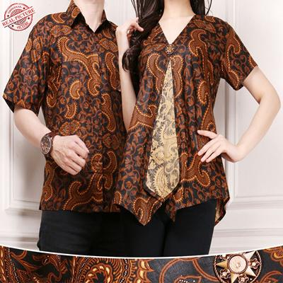 66c8604ff7 Qoo10 - SB Collection Couple on Amanda Blouse and Men's Batik Shirt :  Women's Clothing