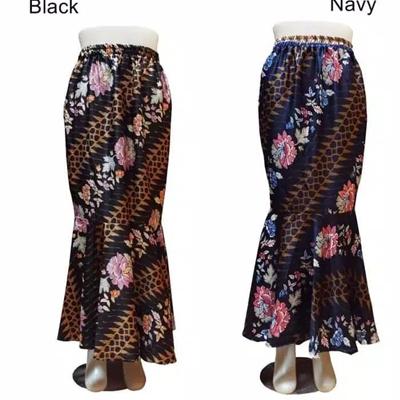 SB Collection Rok Maxi Ria Panjang Longskirt Duyung Casual Batik Wanita .