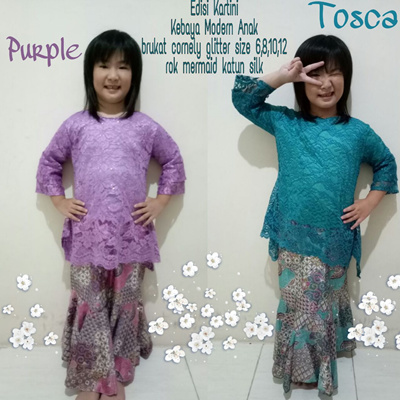 Sb Collection Stelan Tops Grace Kebaya Kartini And Rok Duyung Batik Anak Wanita