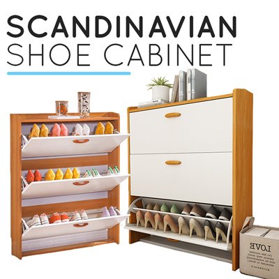 Qoo10 Slim Shoe Cabinet Furniture Deco