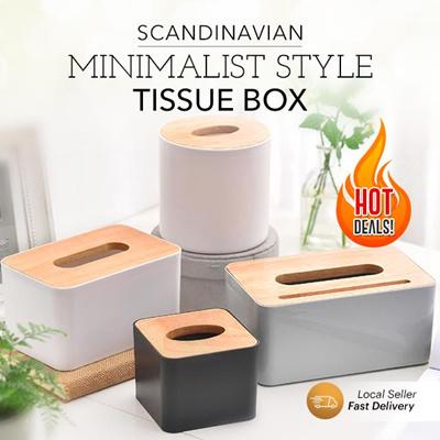 9368e02685e4 Scandinavian Minimalist Style Tissue Box DIY Holder ☆ Space saving Multi  Purpose Storage Vintage