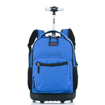06eff029aa School Trolley Bag for Kids Rolling Backpack 18 inch Blue