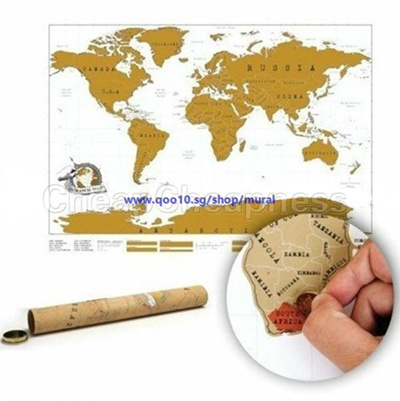 Qoo10 scratch off world map poster personalized travel vacation scratch off world map poster personalized travel vacation gumiabroncs Choice Image
