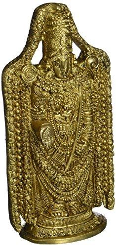 Sculpture For Home Hindu Gifts Balaji Venkateswara Religious Items Brass  9 5 Inch- 2 1 kg