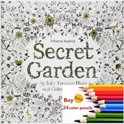 Secret Garden Coloring Book For Children Adult Relieve Stress Kill Time Magic Wonderland Forest Graffiti Painting