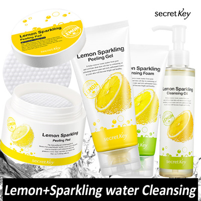 【Secret Key HQ Direct Operation】[1+1]Lemon Sparkling/Cleansing Foam_120g/Peeling Gel_120ml/Oil_150ml
