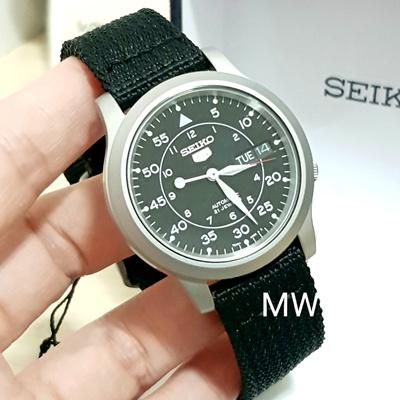 Qoo10 Seiko 5 Military Automatic Black Nylon Day Date Black Dial