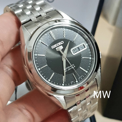 15a45ba20 Seiko Men s SNKL23K1 Seiko 5 Automatic Black Dial Stainless Steel Day Date  Watch
