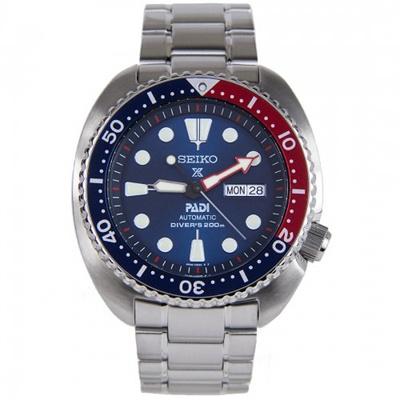 SeikoSeiko Prospex PADI Automatic Diver& apos s Navy Blue Dial Stainless  Steel Men& apos s Watch SR