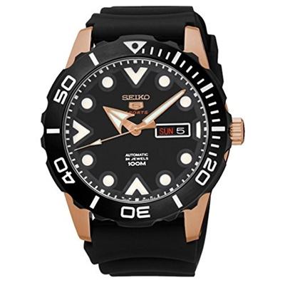 5596fc3e1 Qoo10 - (Seiko Watches) Seiko 5 Sports #SRPA12 Men s Rose Gold Tone Black  Rubb... : Watches